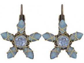 Marguerite - modrá Náušnice > Klasickézapínání - 5450543079967