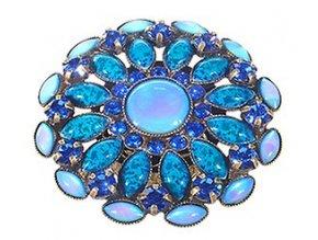 Ethnic Mosaic - modrá/zelená Prsteny - 5450543105017
