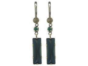 Manhattan Rocks - modrá/zelená Náušnice > Francouzské zapínaní - 5450543166025