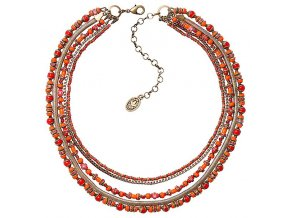 Glamour d'Afrique - oranžová Náhrdelníky - 5450543221342