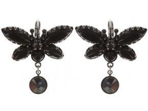 Fly Butterfly - černá Náušnice > Klasickézapínání - 5450543247397
