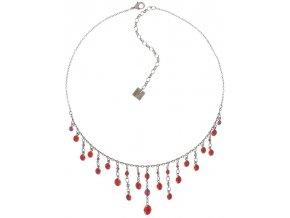 Dangling Tutui - červená/růžová Náhrdelníky - 5450543258195