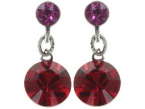 Dangling Tutui - červená/růžová Náušnice > Puzety - 5450543258324