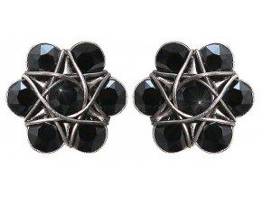 70´s Circles - černá Náušnice > Puzety - 5450543271248