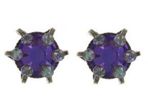 La Maitresse - fialová Náušnice > Puzety - 5450543271330