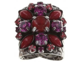 Dangling Navette - červená Prsteny - 5450543278810