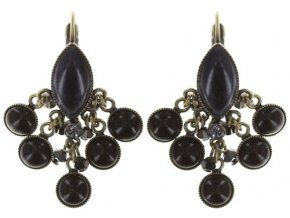 Dangling Navette - černá/modrá Náušnice > Klasickézapínání - 5450543279084