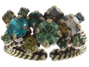 Stone Rhythm - zelená Prsteny - 5450543291727