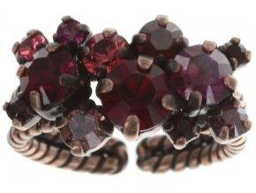 Stone Rhythm - červená Prsteny - 5450543291734