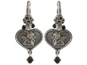 Angel's Heart - černá Náušnice > Klasickézapínání - 5450543293066
