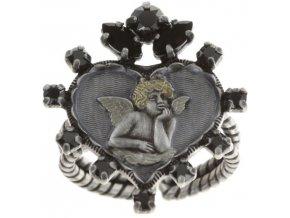 Angel's Heart - černá Prsteny - 5450543293080