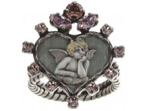 Angel's Heart - růžová Prsteny - 5450543293134