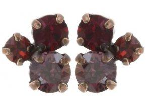 Stone Rhythm - červená Náušnice > Puzety - 5450543294797