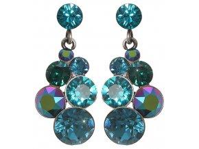 Petit Glamour - modrá/zelená Náušnice > Puzety - 5450543344362