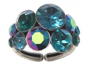 Petit Glamour - modrá/zelená Prsteny - 5450543344386