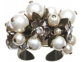 Pearl 'n' Flowers - bílá Prsteny - 5450527781497