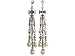 Pearl 'n' Ribbons - bílá Náušnice > Puzety - 5450527782258