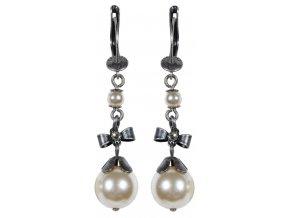 Pearl 'n' Ribbons - bílá Náušnice > Francouzské zapínaní - 5450527808101
