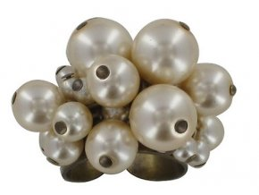 Pearls and Tubes - béžová Prsteny - 5450527986823