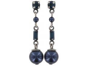 Pearl Shower - modrá Náušnice > Puzety - 5450543027357