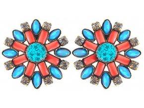 Ethnic Mosaic - multi/více barev Náušnice > Puzety - 5450543104492