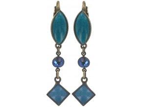 Ethnic Mosaic - modrá/zelená Náušnice > Klasickézapínání - 5450543105185