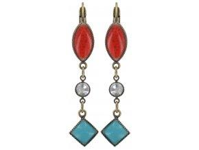 Ethnic Mosaic - multi/více barev Náušnice > Klasickézapínání - 5450543105222