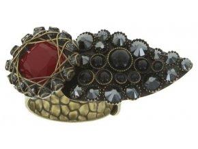 Queen of Elves - černá/červená Prsteny - 5450543165493
