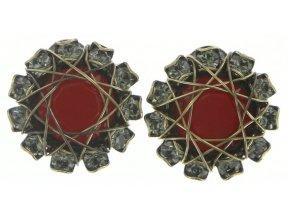 Queen of Elves - černá/červená Náušnice > Puzety - 5450543168814