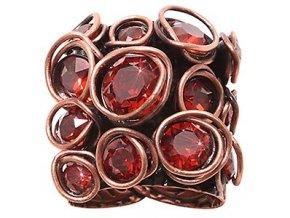 Sparkle Twist - červená/oranžová Prsteny - 5450543251547