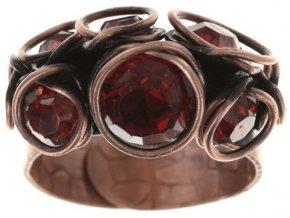 Sparkle Twist - červená/oranžová Prsteny - 5450543251554