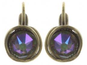 Sparkle Twist - fialová Náušnice > Klasickézapínání - 5450543251936