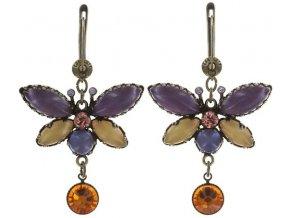 Fly Butterfly - žlutá Náušnice > Francouzské zapínaní - 5450543260389