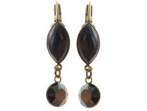 Dangling Navette - černá/modrá Náušnice > Klasickézapínání - 5450543279060