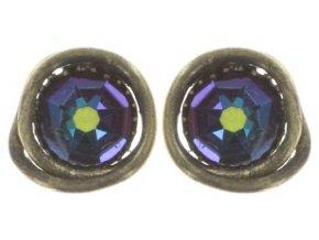 Sparkle Twist - modrá/zelená Náušnice > Puzety - 5450543334219