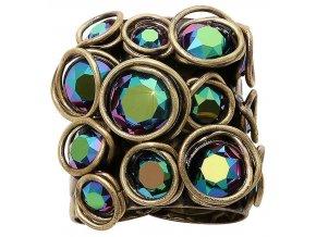 Sparkle Twist - modrá/zelená Prsteny - 5450543334226
