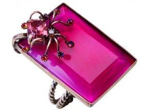 Spiderella - růžová Prsteny - 5450527628495