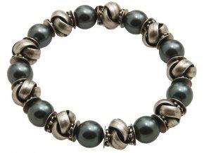 Vintage Pearl - černá/modrá Náramky > Elastické - 5450527674256