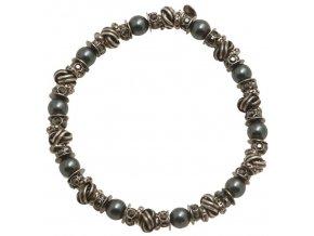 Vintage Pearl - černá/modrá Náramky > Elastické - 5450527674287