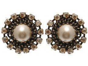 Vintage Pearl - hnědá Náušnice > Klipsy - 5450527684965