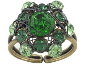 Bended Lights - zelená Prsteny - 5450527759984