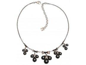 Pearl 'n' Ribbons - černá Náhrdelníky - 5450527781718