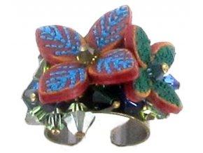 Brit Chic - modrá/zelená Prsteny - 5450527787840