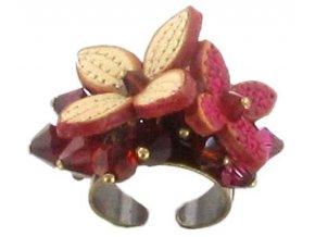 Brit Chic - červená Prsteny - 5450527787901
