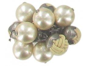 Bubble Pearls - krémová Prsteny - 5450527807272