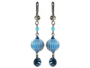 Indianafrica - modrá Náušnice > Francouzské zapínaní - 5450527833929