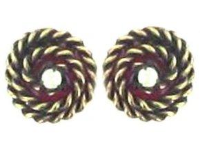 Twisted Lady - červená Náušnice > Puzety - 5450527836722