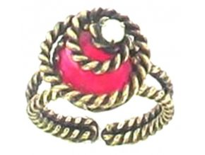 Twisted Lady - červená Prsteny - 5450527836739