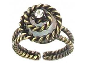 Twisted Lady - bílá Prsteny - 5450527837132