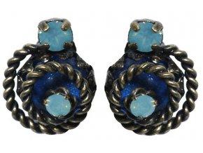 Twisted Lady - modrá Náušnice > Puzety - 5450527837163